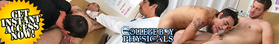 College Boys Physicals - Cute Boy Fingered And Jerked Off In The Gay Doctor's Office