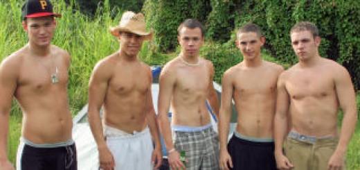Outdoor 5 Guy Orgy