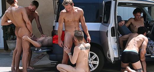 KOK Car Wash - Bareback Orgy