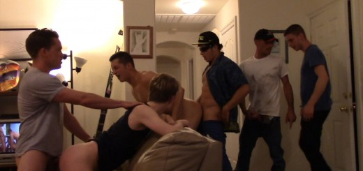 Room-Mates Gang Bang Like CRAZY!